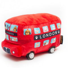 Red Pet London Bus Large Squeaky Dog Toy and Instagram Prop