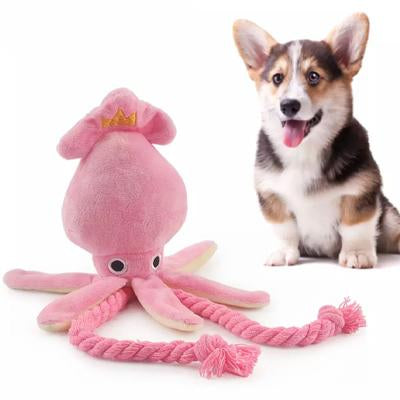 Super Soft Squid Rope Pull Dog Toy