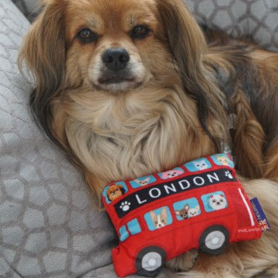 Red Pet London Bus Squeaky Dog Toy and Instagram Prop Medium