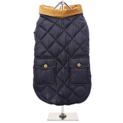 Urban Pup Chihuahua Puppy Chihuahua or Small Dog Navy Blue Town and Country Quilted Dog Coat Chihuahua Clothes and Accessories at My Chi and Me