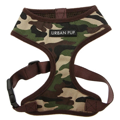 Green Camouflage Harness by Urban Pup Chihuahua Clothes and Accessories at My Chi and Me