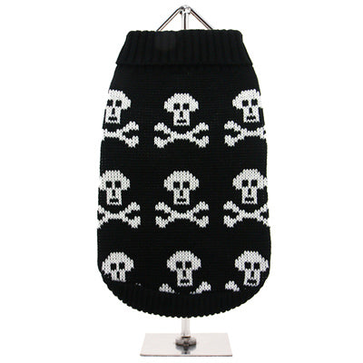 Urban Pup Chihuahua or Small Dog Skull and Crossbones Jumper Black