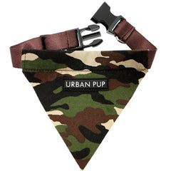 Urban Pup Green Camouflage Bandana for Small Dogs
