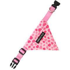 Urban Pup Pink Hearts Bandana for Small Dogs