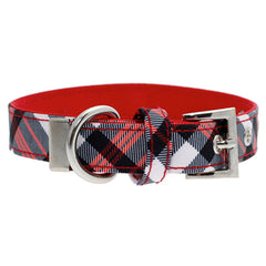 Red and White Plaid Collar by Urban Pup