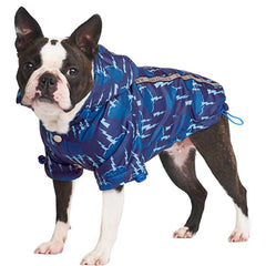 Urban Pup Chihuahua Puppy Chihuahua or Small Dog Storm Blue Coat Rainstorm Jacket