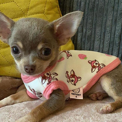 Premium Fleece Lined Puppy Vest Baby Deers - 3 SIZES Chihuahua Clothes and Accessories at My Chi and Me
