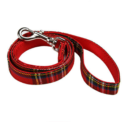 Traditional Red Tartan Lead by Urban Pup Chihuahua Clothes and Accessories at My Chi and Me