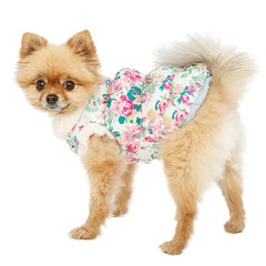 Urban Pup Puppy Chihuahua or Small Dog Rose Sensation Faux Fur Trimmed Coat