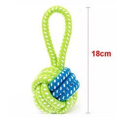 Super Strong Blue and Green Single Loop Rope Pull and Throw Dog Toy
