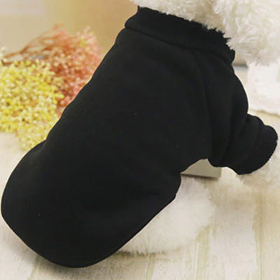 Chihuahua Puppy and Small Dog Plain Knit Fleece Lined Jumper Black 2 SIZES Chihuahua Clothes and Accessories at My Chi and Me