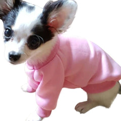 Chihuahua Puppy and Small Dog Plain Knit Fleece Lined Jumper XS PINK Chihuahua Clothes and Accessories at My Chi and Me