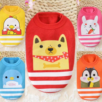 Premium XXXS Puppy Vest Cute Characters - 5 Colours Chihuahua Clothes and Accessories at My Chi and Me
