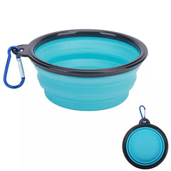 Clip and Go Travel Collapsible Water Bowl With Caribiner Chihuahua Clothes and Accessories at My Chi and Me