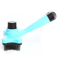 Chihuahua Grooming Brush with Hair Release Button Aqua Chihuahua Clothes and Accessories at My Chi and Me