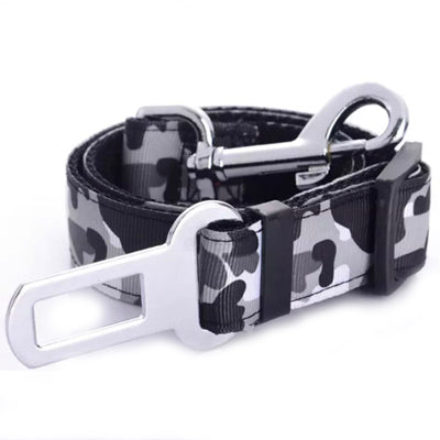 Premium Dog Seat Belt With Clip Black Arctic Camouflage Chihuahua Clothes and Accessories at My Chi and Me