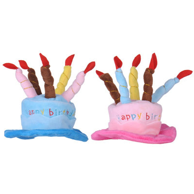 Happy Birthday Hat for Chihuahua Small Dog or Puppy BLUE or PINK Chihuahua Clothes and Accessories at My Chi and Me