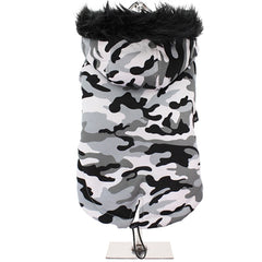Urban Pup Chihuahua Puppy Chihuahua or Small Dog Arctic Camouflage Padded Fishtail Parka Style Coat Chihuahua Clothes and Accessories at My Chi and Me