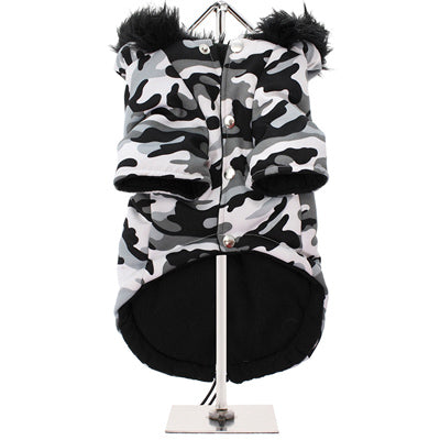 Urban Pup Chihuahua Puppy Chihuahua or Small Dog Arctic Camouflage Padded Fishtail Parka Style Coat