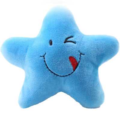 Twinkle Chihuahua or Small Dog Plush Star Toy with Squeaker Blue