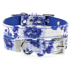Blue and White Floral Bouquet Collar by Urban Pup Chihuahua Clothes and Accessories at My Chi and Me
