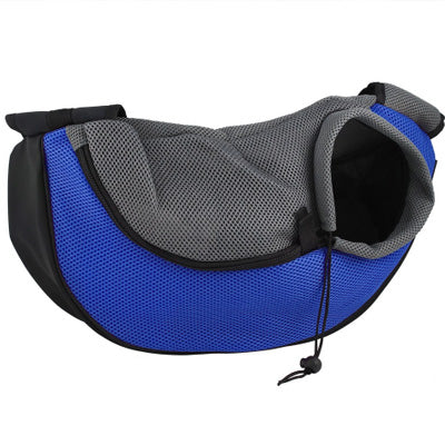 Chihuahua Or Small Dog Pet Carrier Messenger Style Black Blue & Grey Chihuahua Clothes and Accessories at My Chi and Me