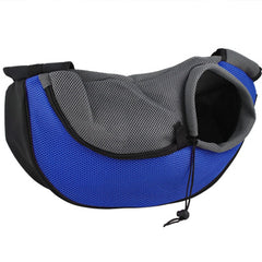 Small Dog Carrier Messenger Style Black Blue & Grey 2 Sizes Chihuahua Clothes and Accessories at My Chi and Me