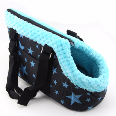 Small Dog Puppy Carrier Travel Bag Style Blue Stars Chihuahua Clothes and Accessories at My Chi and Me