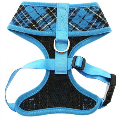 Blue and Black Tartan Harness by Urban Pup