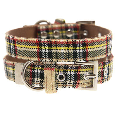Brown Tartan Collar by Urban Pup Chihuahua Clothes and Accessories at My Chi and Me