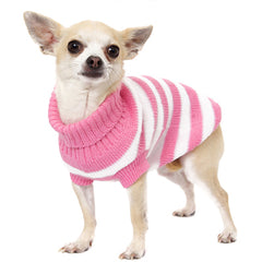 Urban Pup Chihuahua Puppy Chihuahua or Small Dog Pink and White Candy Striped Jumper
