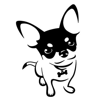 Short Coat Chihuahua Decal Dinky The Pint Size Chihuahua - My Chi and Me