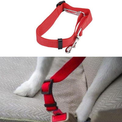 Premium Dog Seat Belt With Clip Red Chihuahua Clothes and Accessories at My Chi and Me