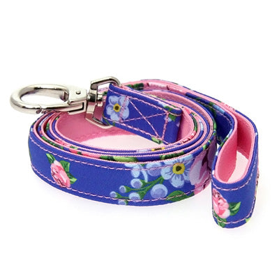 Pink and Blue Floral Burst Lead by Urban Pup Chihuahua Clothes and Accessories at My Chi and Me