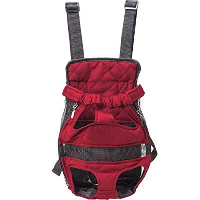 Front Facing Pet Carrier For Puppies And Small Dogs Legs Out Burgundy Chihuahua Clothes and Accessories at My Chi and Me