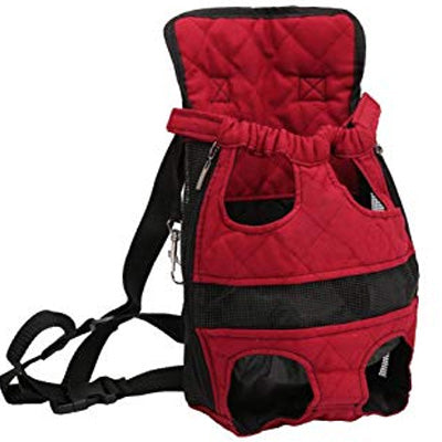 Front Facing Pet Carrier For Puppies And Small Dogs Legs Out Burgundy
