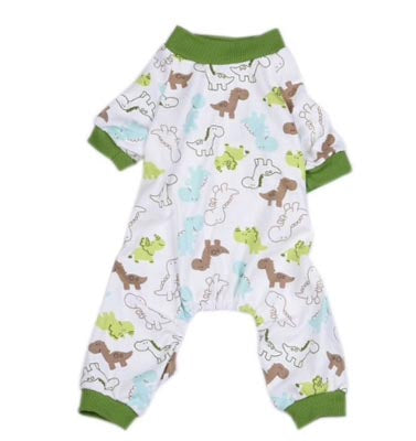 Chihuahua Small Dog Pyjamas Onesie Style Dinosaurs Print Cotton - My Chi and Me