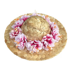 Floral Straw Sun Hat for Chihuahua Small Dog or Puppy Chihuahua Clothes and Accessories at My Chi and Me