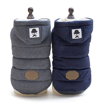 Super Soft Padded Chihuahua or Small Dog Coat Grey 5 Sizes Chihuahua Clothes and Accessories at My Chi and Me