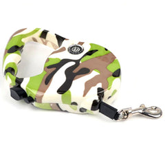 Premium Retractable Extending Chihuahua or Small Dog Lead Green Camouflage Chihuahua Clothes and Accessories at My Chi and Me