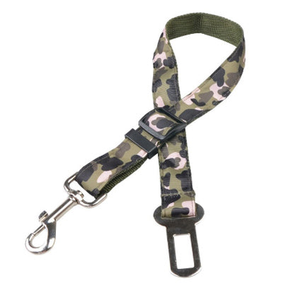Premium Dog Seat Belt With Clip Green Camouflage Chihuahua Clothes and Accessories at My Chi and Me