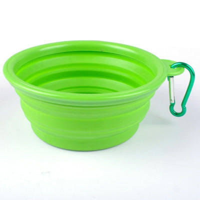 Chihuahua Travel Collapsible Water Bowl With Caribiner For On The Go Small Dogs