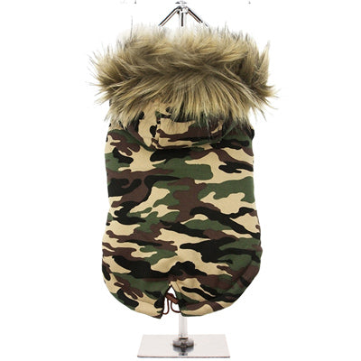 Urban Pup Chihuahua Puppy Chihuahua or Small Dog Green Camouflage Padded Fishtail Parka Style Coat Chihuahua Clothes and Accessories at My Chi and Me