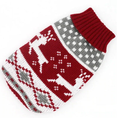 Chihuahua Puppy Chihuahua or Small Dog Red Fair Isle Christmas Jumper Chihuahua Clothes and Accessories at My Chi and Me