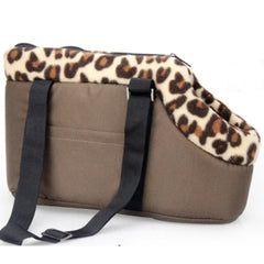 Padded Puppy Or Small Dog Travel Shoulder Bag Leopard Lined Dog Carrier Small Chihuahua Clothes and Accessories at My Chi and Me