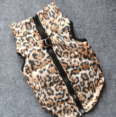 Premium Leopard Print Water Resistant Padded Gilet Style Coat Chihuahua or Small Dog - My Chi and Me
