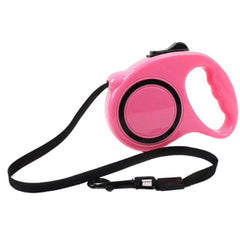 Retractable Chihuahua or Small Dog Lead Light Pink