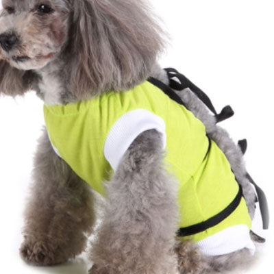 Surgery Suits for Small Dogs Post Wound Surgery Protection Lime
