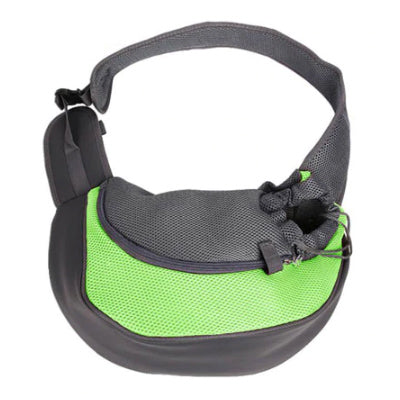 Chihuahua Or Small Dog Pet Carrier Messenger Style Black Green & Grey Chihuahua Clothes and Accessories at My Chi and Me