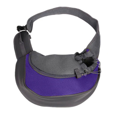 Chihuahua Or Small Dog Pet Carrier Messenger Style Black Purple & Grey Chihuahua Clothes and Accessories at My Chi and Me